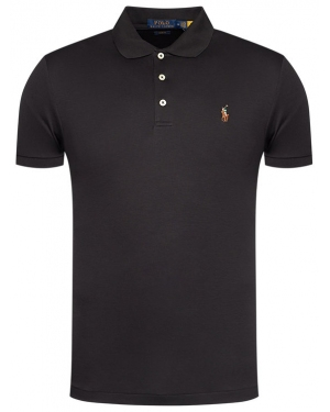 Polo Ralph Lauren Polo Ssl-Knt 710685514002 Czarny Slim Fit