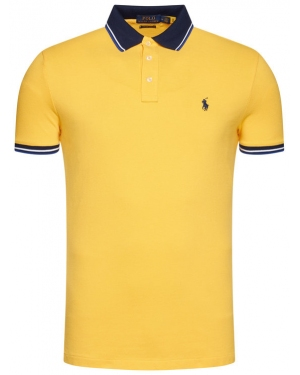 Polo Ralph Lauren Polo Ssl-Knt 710812957003 Żółty Slim Fit