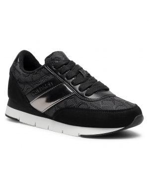 Sneakersy CALVIN KLEIN - Tea B4E00445 Black/Gunmetal