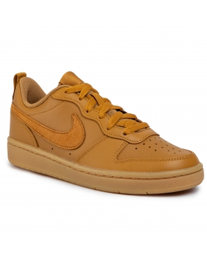 Buty NIKE - Court Borough Low 2 (Gs) BQ5448 700 Wheat/Wheat Gum/Light Brown