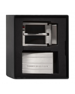 Pasek Męski TOMMY HILFIGER - Formal 3.5 Double Buckle Giftbox AM0AM06629 BDS