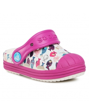 Klapki CROCS - Bump It Graphic Clog K 204126  White/Vibrant Violet
