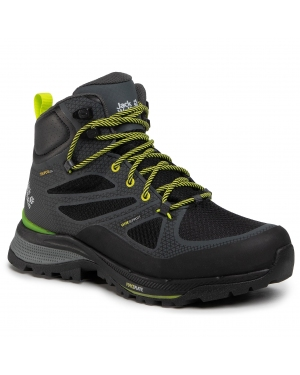 Trekkingi JACK WOLFSKIN - Force Striker Texapore Mid M 4038821 Dark Grey/Lime