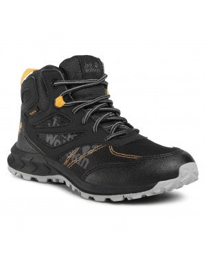 Trekkingi JACK WOLFSKIN - Woodland Texapore Mid K 4042151 S Black/Burly Yellow XT