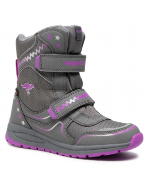 Śniegowce KANGAROOS - K-Plush V Rtx 18419 000 2111 Steel Grey/ Purple