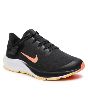 Buty NIKE - Air Zoom Pegasus 37 Flyease 4E CK8446 005 Black/Bright Mango/Anthracite