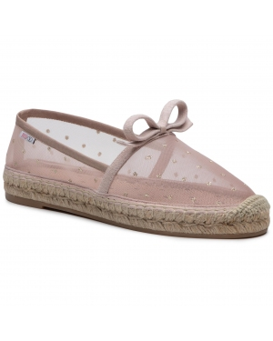 Espadryle RED VALENTINO - VQ2S0D64HUH  Nude/ Oro N17