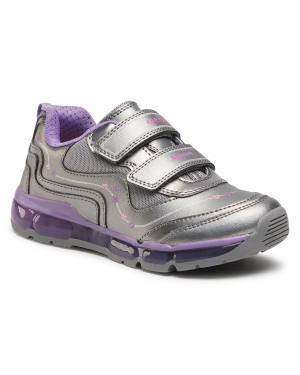 Sneakersy GEOX - J Android G. B J0445B 000NF C1400 D Dk Silver/Dk Lilac