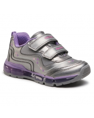 Sneakersy GEOX - J Android G. B J0445B 000NF C1400 S Dk Silver/Dk Lilac