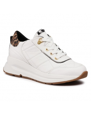 Sneakersy GEOX - D Backie B D04FLB 08507 C1524 White/Tobacco
