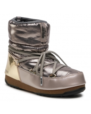 Śniegowce MOON BOOT - Low St.Moritz Wp 24009900001 Platinum