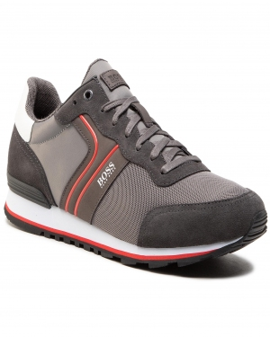 Sneakersy BOSS - Parkour 50433661 10214574 01 Dark Grey 026