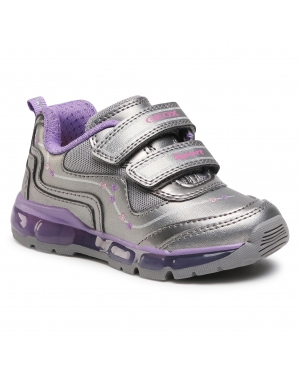 Sneakersy GEOX - J Android G. B J0445B 000NF C1400 M Dk Silver/Dk Lilac