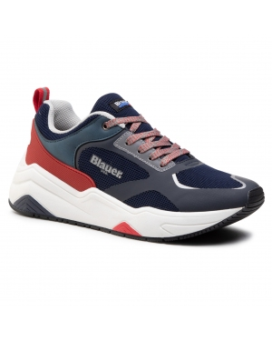 Sneakersy BLAUER - S1TOK01/MES Navy/Red