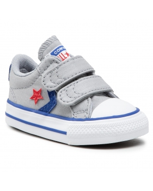 Trampki CONVERSE - Star Player 2V OX 763529C Wolf Grey/Blue/Enamel Red