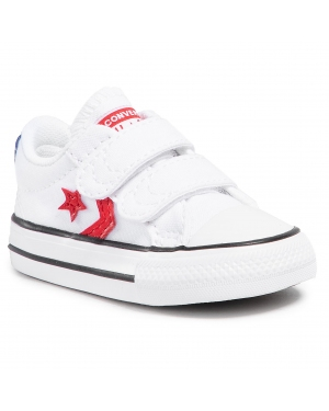 Trampki CONVERSE - Star Player 2V Ox 770228C White/University Red/Blue