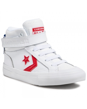 Sneakersy CONVERSE - Pro Blaze Strap Hi 670509C White/University Red/Blue