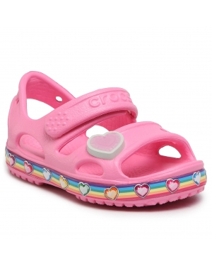 Sandały CROCS - Fun Lab Rainbow Sandal K 206795 Pink Lemonade