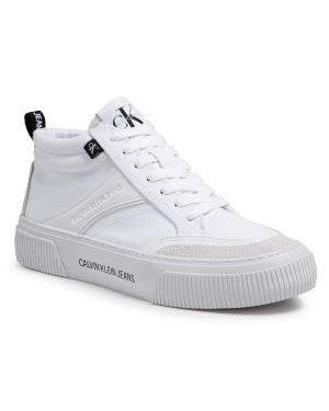 Sneakersy CALVIN KLEIN JEANS - Vulcanized Skate Midlaceup Mix YW0YW00056 Bright White YAF