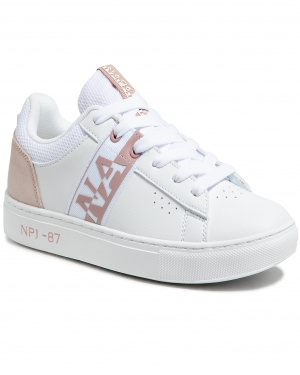 Sneakersy NAPAPIJRI - Willow NP0A4FKT White/Pink 02U1