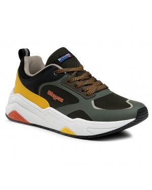 Sneakersy BLAUER - S1TOK01/MES Military/Yellow