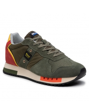 Sneakersy BLAUER - S1QUEENS01/STO Mor Military/Orange