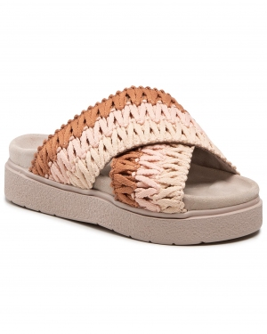 Klapki INUIKII - Women Knitted Crossed 70104-087 Rose