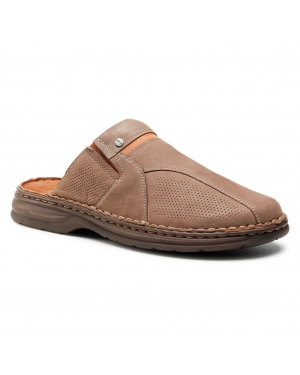 Klapki LASOCKI FOR MEN - MI08-C720-715-09 Dark Beige