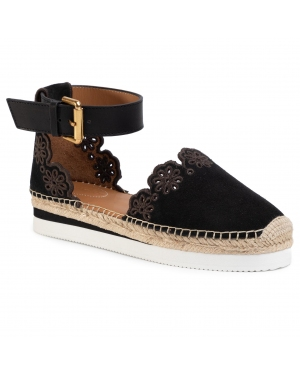 Espadryle SEE BY CHLOÉ - SB30201 Crosta 999 Nero/Nat. Calf 999 Nero
