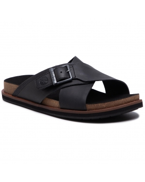 Klapki TIMBERLAND - Amalfi Vibes Cross Slide TB0A2B65015 Black Leather