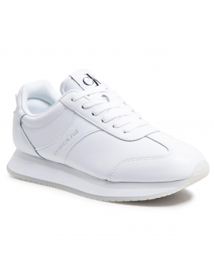Sneakersy CALVIN KLEIN JEANS - Runner Sneaker Laceup Pu-Pa YW0YW00069 Bright White YAF
