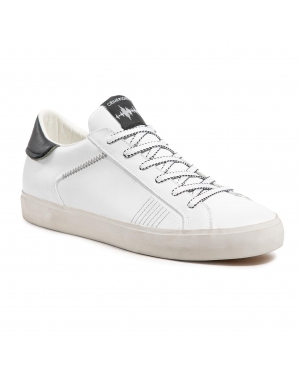 Sneakersy CRIME LONDON - Low Top Distressed 11412PP3.10 White