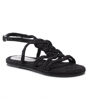 Espadryle MANEBI - Rope Sandals F 7.6 Y0 Black Tie-Up