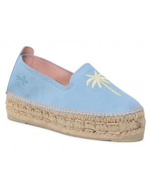 Espadryle MANEBI - Slippers D G 6.5 D0 Placid Blue/Yellow Palm