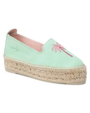 Espadryle MANEBI - Slippers D G 6.6 D0 Mint/Pink Palm
