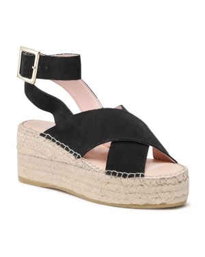 Espadryle MANEBI - Wedges W Belt K 1.0 Wb Black