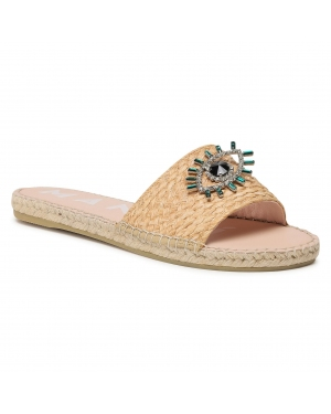 Espadryle MANEBI - Flat Sandals G 5.0 Js Natural W Evil Eye
