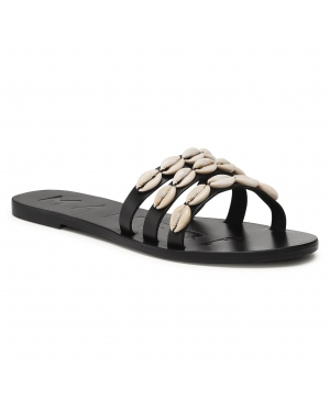 Klapki MANEBI - Leather Sandals S 0.2 Y0 Black