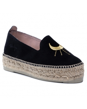 Espadryle MANEBI - Slippers D F 6.5 D0 Black/Golden Eye