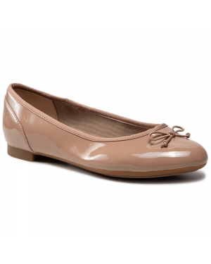 Baleriny CLARKS - Couture Bloom 261339925 Nude Patent
