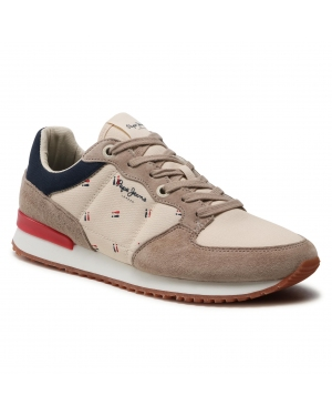 Sneakersy PEPE JEANS - Tinker Stab Brennan PMS30727 Stone 836