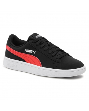 Sneakersy PUMA - Smash v2 Buck Jr 365182 26 Black/Poppy Red