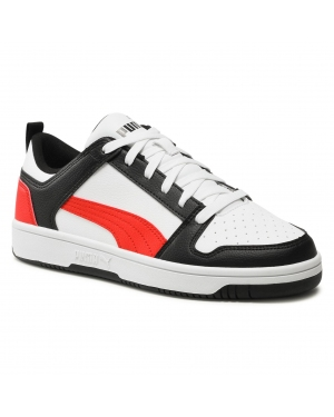 Sneakersy PUMA - Rebound Layup Lo Sl 369866 14 White/Poppy Red/Puma Black