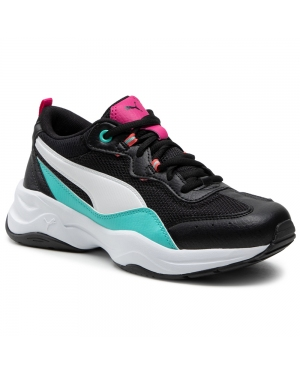 Sneakersy PUMA - Cilia 369778 22 Black/White/Aqua/Beetroot