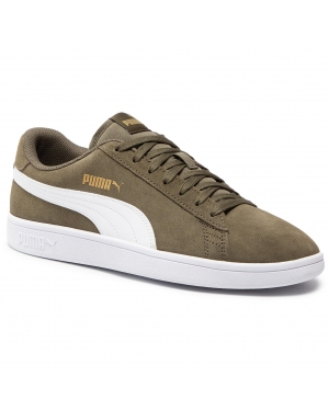 Sneakersy PUMA - Smash v2 364989 41 Burnt Olive/Puma White/Gold