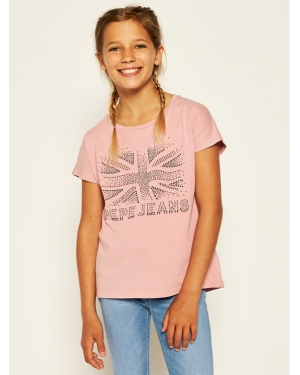 Pepe Jeans T-Shirt Maripaz PG502452 Różowy Regular Fit