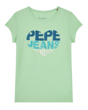 Pepe Jeans T-Shirt Bendela PG502480 Zielony Regular Fit