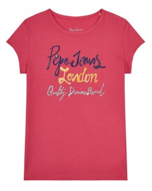 Pepe Jeans T-Shirt Farrah PG502488 Różowy Regular Fit
