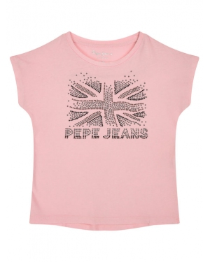 Pepe Jeans T-Shirt Maripaz PG502500 Różowy Regular Fit