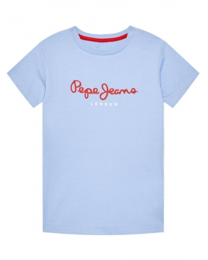 Pepe Jeans T-Shirt Art PB501228 Niebieski Regular Fit